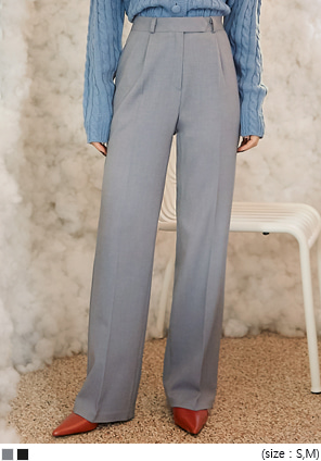 [BOTTOM] UNKNOWN PINTUCK LONG SLACKS