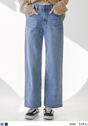 [BOTTOM] HOKI WASHING WIDE DENIM PANTS