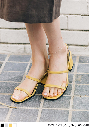 [SHOES] SLIM STRAP MIDDLE HEELS