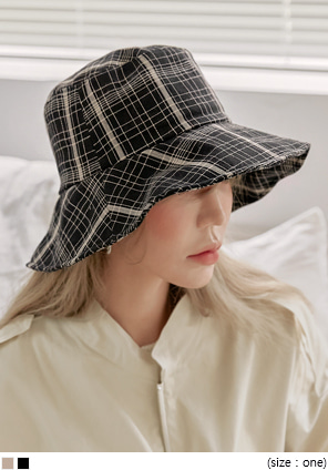 [ACC] EBAN CHECK BUCKET HAT