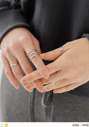 [JEWELRY] SEN LAYERED RING 5 SET