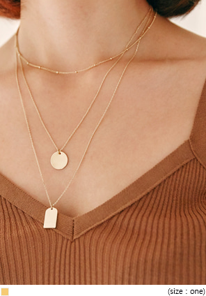 [JEWELRY] GOLD 3 CHAIN LAYERED NECKLACE