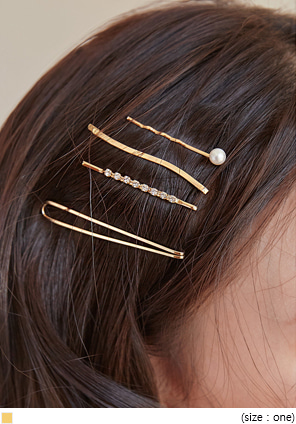 [ACC] 4 TYPE VARIN GOLD HAIR PIN SET