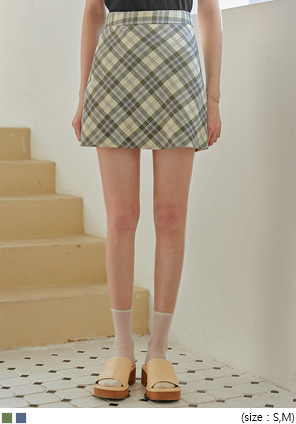 [SKIRT] CLEDI CHECK MINI SKIRT