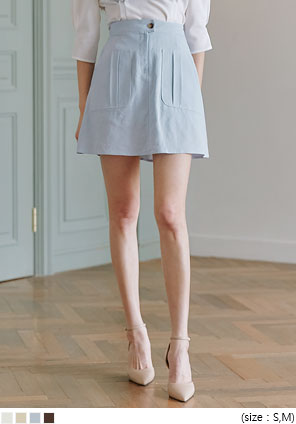 [SKIRT] RUTI LINEN SET-UP MINI SKIRT