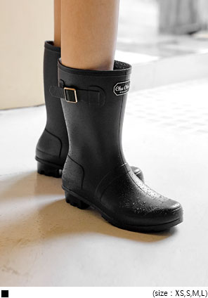 [SHOES] SPINNER BUCKLE RAIN BOOTS