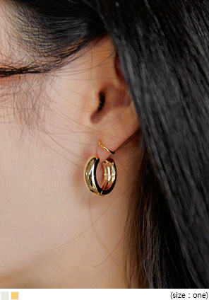 [JEWELRY] HEIDI MINIMAL RING EARRING