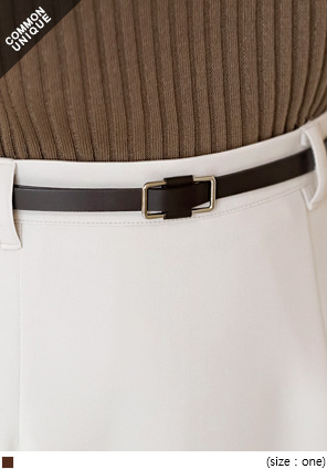 [ACC] SLIM OBLONG FRAME BELT