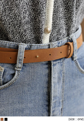 [ACC] SUEDE SIMPLE BELT