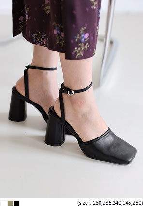 [SHOES] ROZEL SQUARE STRAP HEEL