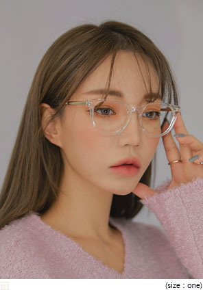 [ACC] GOLD TRANSPARENT FRAME GLASSES