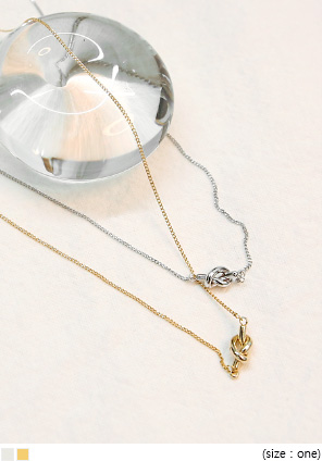 [JEWELRY] IDEN KNOT PENDANT NECKLACE