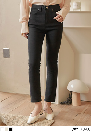 [BOTTOM] MOKE BANDING COTTON PANTS