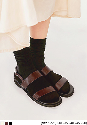[SHOES] LOKAN BUCKLE STRAP SANDAL