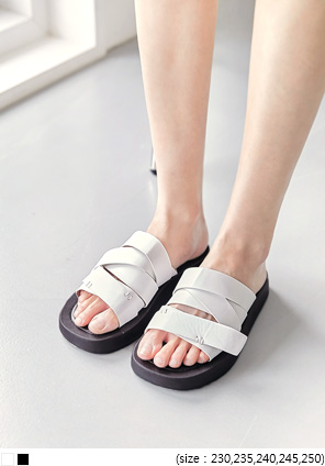 [SHOES] LUKAN CROSS STRAP SLIPPER