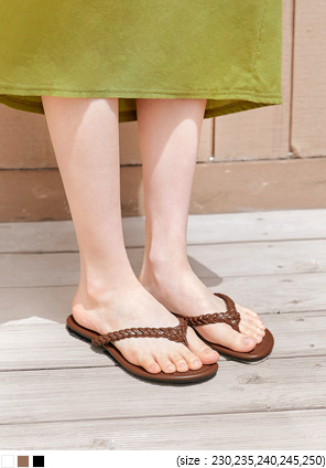 [SHOES] BERORAN TWIST FLIP FLOP SLIPPER