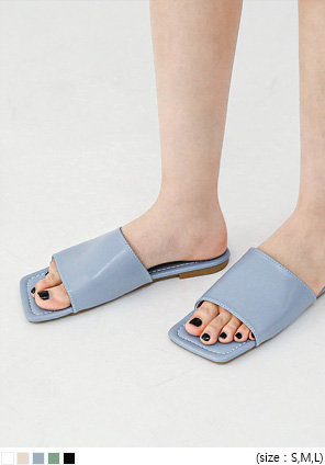 [SHOES] ESAIN SQUARE SLIPPER