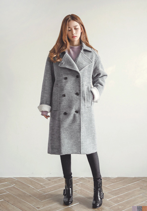 [OUTER] COLOR WOOL OVER COAT