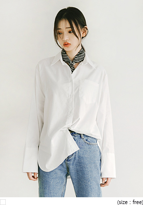 [TOP] PLAIN CUFFS SHIRTS
