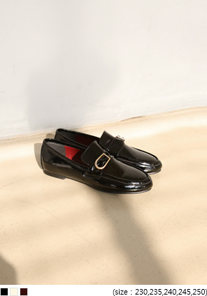 [SHOES] ENAMEL D RING LOAFER