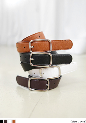 [ACC] SQUARE SILVER THREE BELT