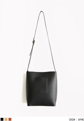[BAG] POCKET LEATHER SHOULDER BAG